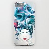 A girl with aqua hair iPhone 6 Slim Case