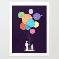 You Are My Universe (fat… Art Print