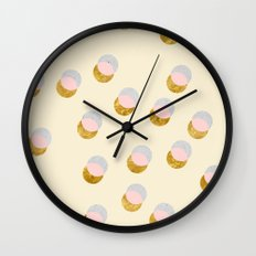 Gold and Pastel Wall Clock