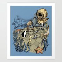 Deep Sea Chessmaster  Art Print