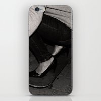 Skateboarding Girl iPhone & iPod Skin