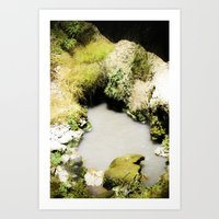 Thermal Pool Art Print