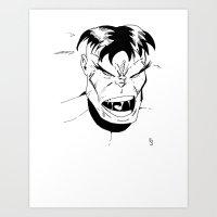 Hulk - You Wouldn't Like… Art Print
