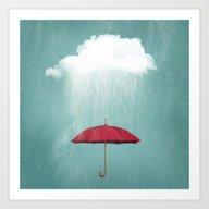 WHITE RAIN Art Print