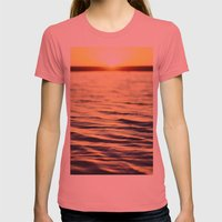Sunset at Bodega Womens Fitted Tee Pomegranate SMALL