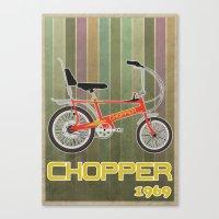 Chopper Bicycle Canvas Print