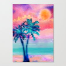 Paradise Palms Canvas Print