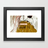 kiss kiss Framed Art Print