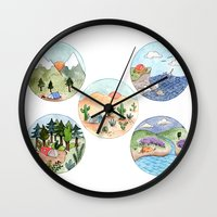 Campsite Selection Wall Clock