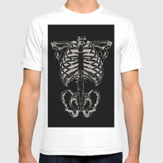 Skeleton #1 Mens Fitted Tee White SMALL