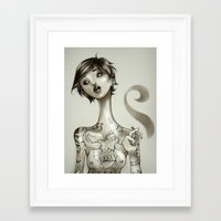 The Illustrated Woman Framed Art Print