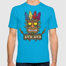 Aku-Aku (Crash Bandicoot) Mens Fitted Tee Teal SMALL