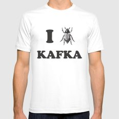 Kafka Mens Fitted Tee SMALL White