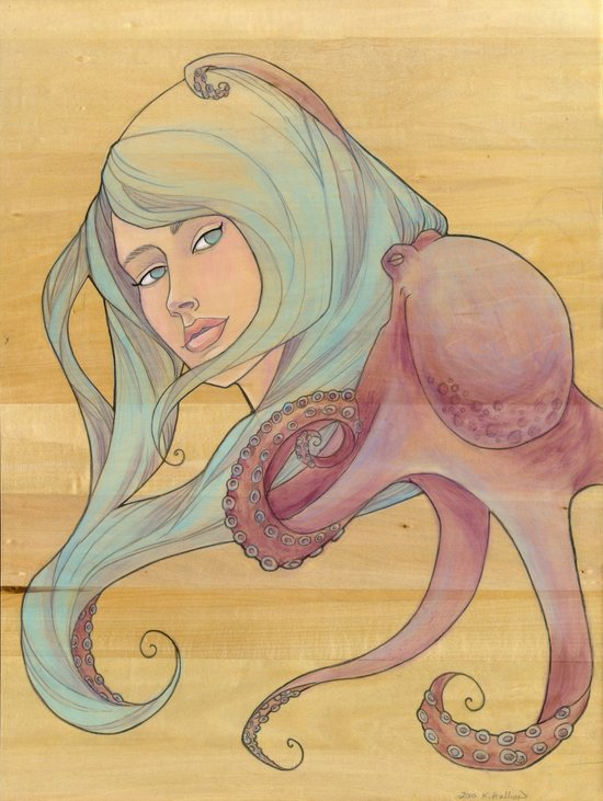 The Octopus Mermaid 3 Art Print
