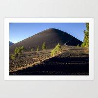 Lassen Volcanic National Park - Cinder Cone Volcano Art Print
