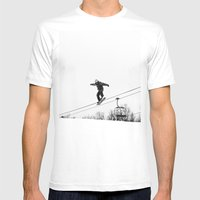 Time To Fly Mens Fitted Tee White SMALL