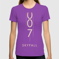 skyfall Womens Fitted Tee Ultraviolet SMALL