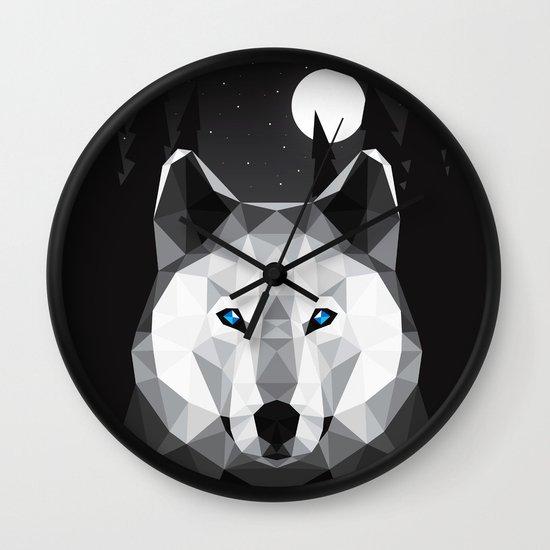 The Tundra Wolf Wall Clock
