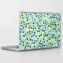 Watercolor Dots_Aqua by Jacqueline and Garima Laptop & iPad Skin