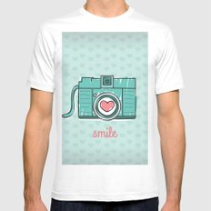 Green Smile Mens Fitted Tee White SMALL