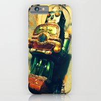 iPhone & iPod Case featuring Vintage Christmas Robot by AMarloweCanPrint