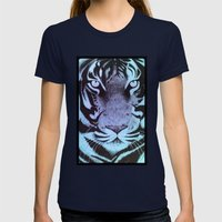 Be A Tiger (Blue) Womens Fitted Tee Navy SMALL