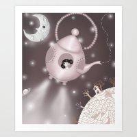 Across Star Riddled Skie… Art Print