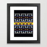Large Native America inspired blanket print Framed Art Print