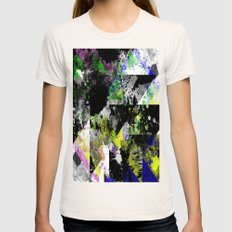 The Faint Shape Of Colour - Abstract, geometric, Textured Painting Womens Fitted Tee Natural SMALL