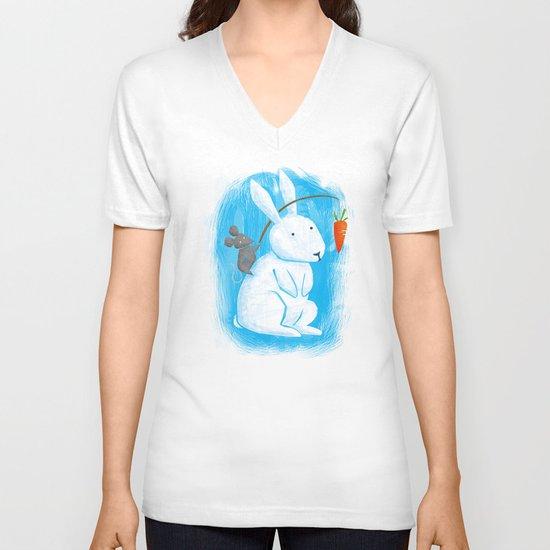 Bunny Rider V-neck T-shirt