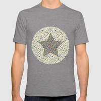 star Mens Fitted Tee Tri-Grey SMALL