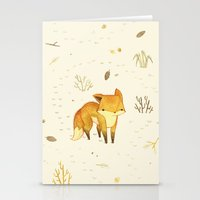 friends Stationery Cards featuring Lonely Winter Fox by Teagan White