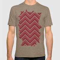 Pink Zig Zag Pattern Mens Fitted Tee Tri-Coffee SMALL