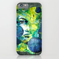 Evelin Green (Set) by carographic watercolor portrait iPhone 6 Slim Case