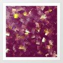 purple digital painting Art Print