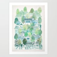 Cambodian Village Art Print