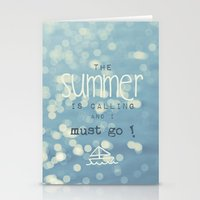 SUMMER IS CALLING Stationery Cards