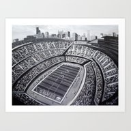 Chicago Bears Soldier Fi… Art Print