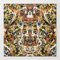 Reflecting Pollock 2 Canvas Print