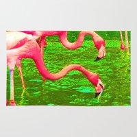 Flaming Flamingo Rug