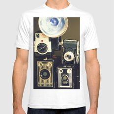 Vintage Camera Collection White Mens Fitted Tee SMALL
