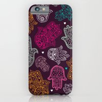 Arabic hamsa hand of Fatima art pattern design iPhone 6 Slim Case