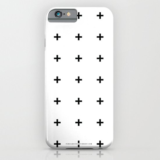 Black Plus on White /// www.pencilmeinstationery.com iPhone & iPod Case