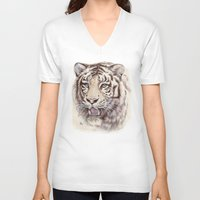 White Tiger 909 Unisex V-Neck