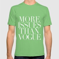 MORE ISSUES Mens Fitted Tee Grass SMALL