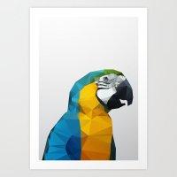 Geo - Parrot Art Print