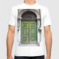 Green Door Mens Fitted Tee White SMALL