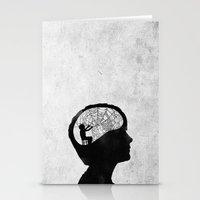 Musarañas (black and white) Stationery Cards