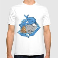 The Blue Whale In The Ro… Mens Fitted Tee White SMALL