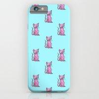 Crazy Cat (Pink/Blue)  iPhone 6 Slim Case